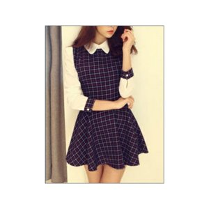 vestido-cuadros-con-blusa