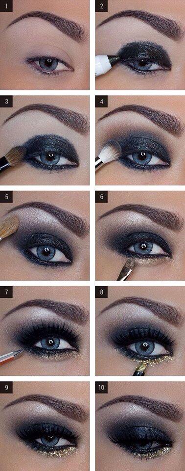Para cualquier maquillaje ahumado, necesitaremos sombras en tonos grises, ya sean las plateadas o las denominadas ahumadas, que son más cercanas al color